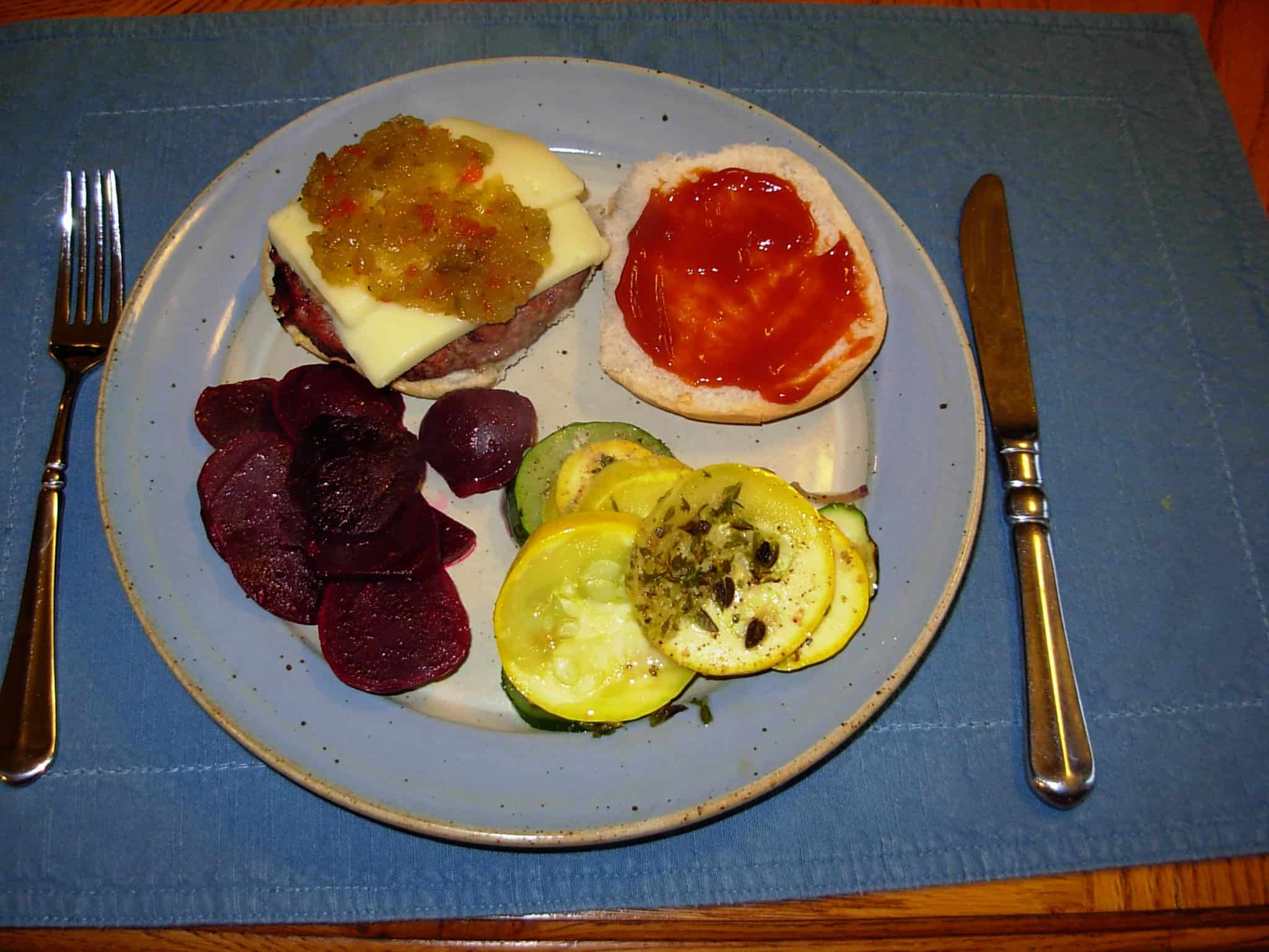 Cheeseburger, beets and squash bake