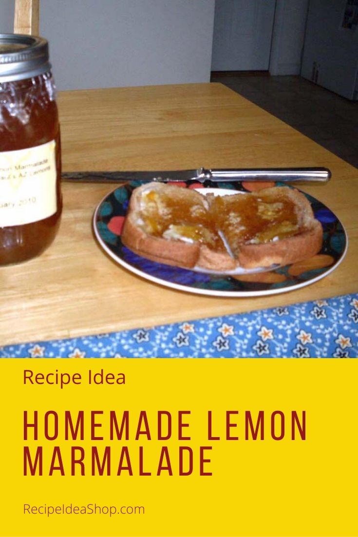 Every try making jams and jellies at home? Homemade Lemon Marmalade is SO good. #lemonmarmalade #marmalade #canning #cookathome #yougotthis #recipes #recipeideashop