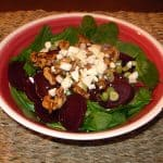 Green Salad with Beets and Feta