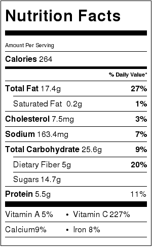 Broccoli Salad Nutrition Label. Each serving is about 1 cup.