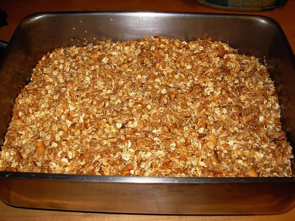 All done! To enhance the flavor, add the lemon zest after you bake the Homemade Granola.