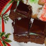 Three Layer Mint Brownies