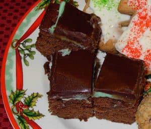 Three-Layer Mint Brownies
