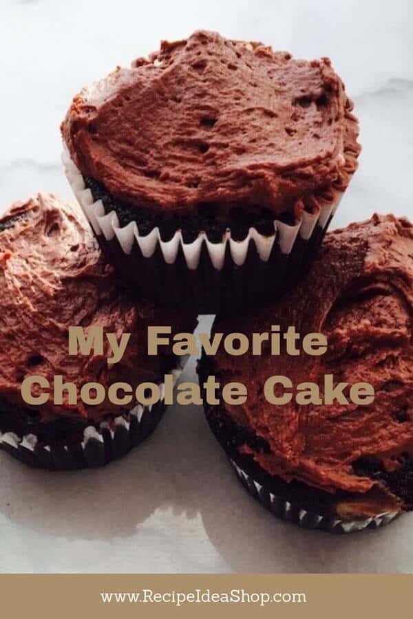My Favorite Chocolate Cake is SO easy. Almost like a dump cake. Moist. Amazing. #myfavoritechocolatecake, #chocolatecake, #recipeideashop