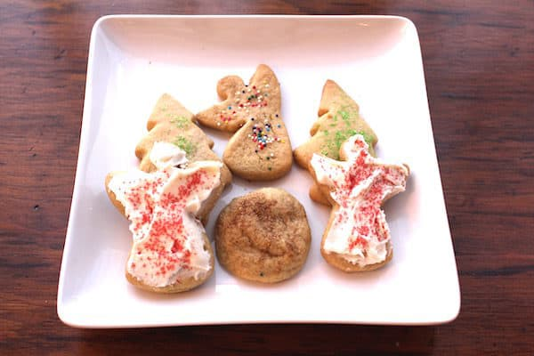 Grandma Sadie's Brown Sugar Sugar Cookies can be rolled out and cut into shapes, frosted or left plain, sprinkled with sugar, or pressed into a round shape and sprinkled with cinnamon and sugar. It's all good!