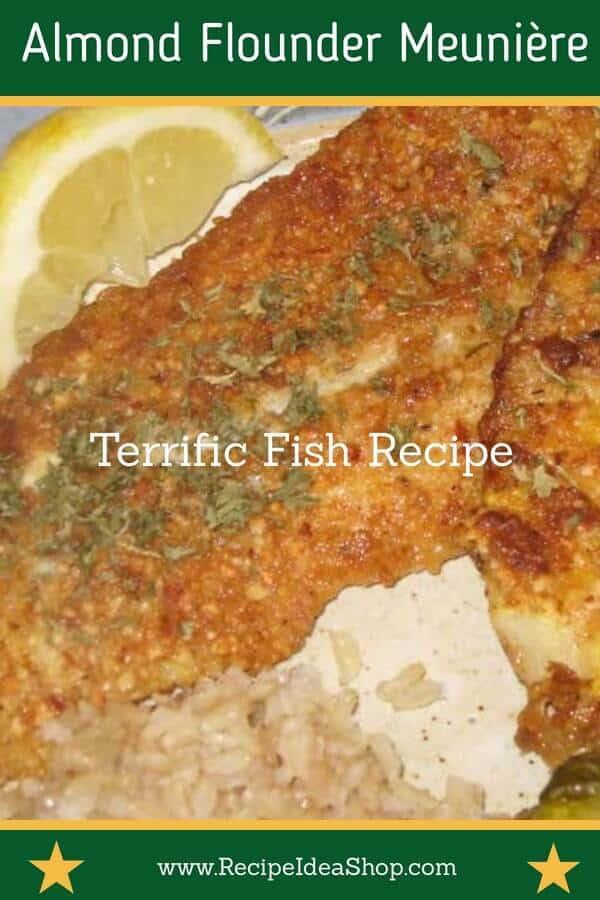 Simple Almond Coated Flounder. Excellent flavor. #flounder ##almondflounder #almondfloundermeuniere #fishrecipe #recipes #recipeideashop