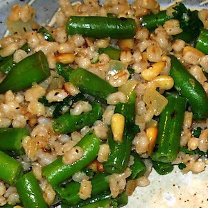 Barley with Green Beans Parmesan Casserole