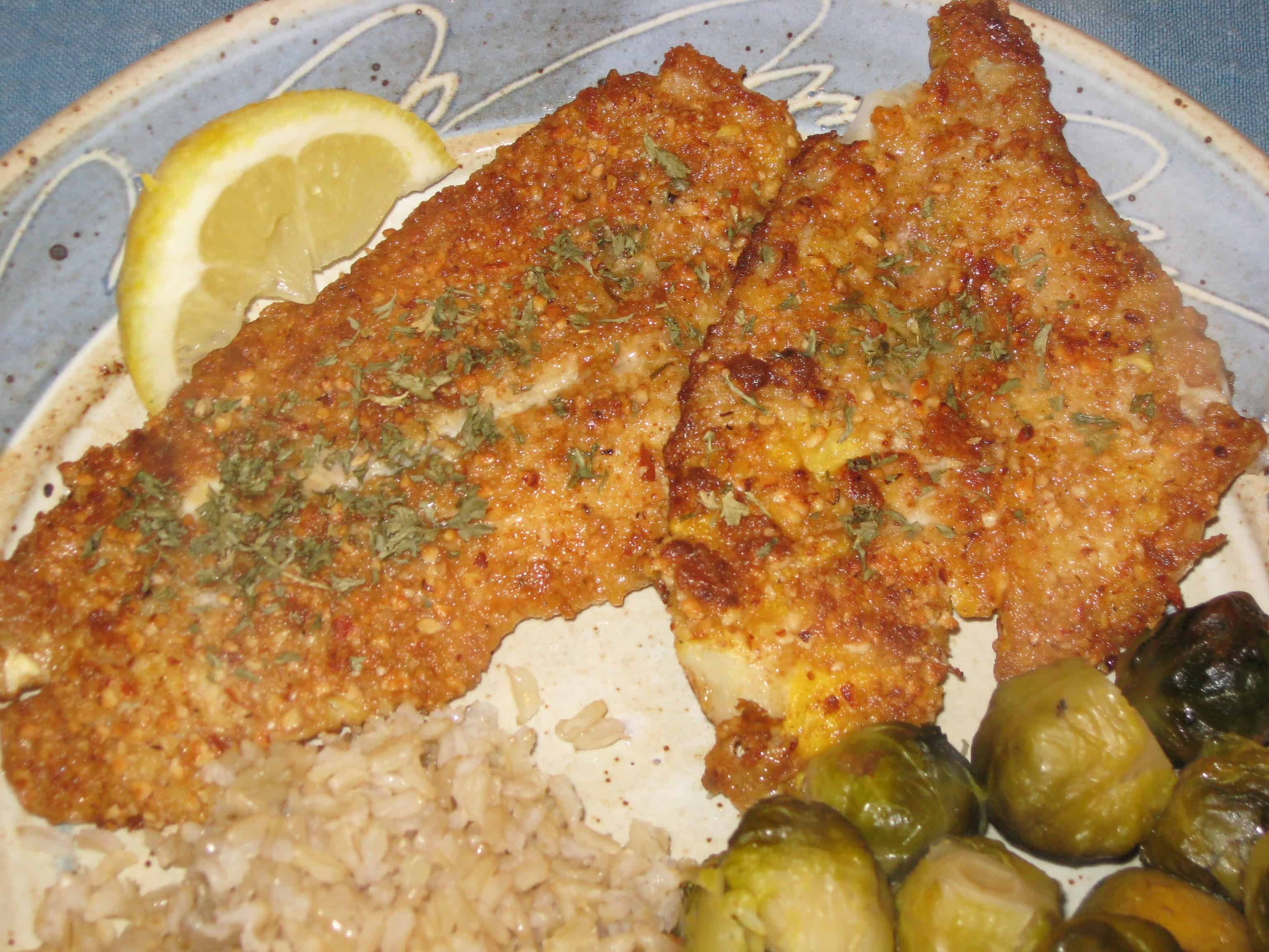 Flounder with Almonds