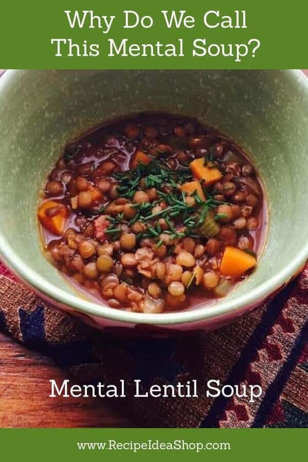 Hearty, flavorful, Mediterranean Lentil Soup. #lentilsoup #mediterraneanrecipes #souprecipes #lentilsouprecipe #vegan #glutenfree #vegetarian #recipes #nationalmeatout #meditterranean #recipeideashop