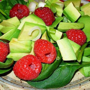 Avocado Raspberry Salad