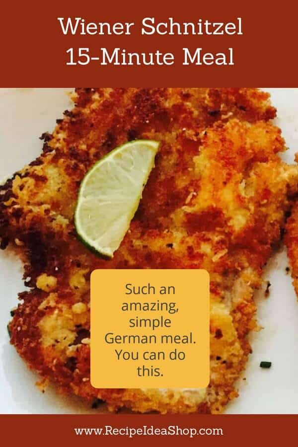 Wiener Schnitzel (Bett's Viernersnitzel). #easyrecipes #easypeasy #germanfood #comfortfood #yougotthis #cookathome #recipes #recipeideashop