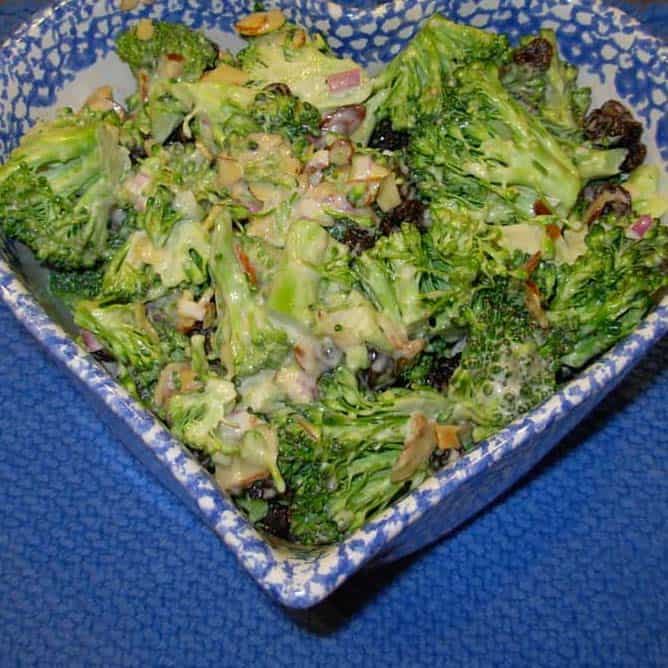 Broccoli Salad, one of our family's favorites.