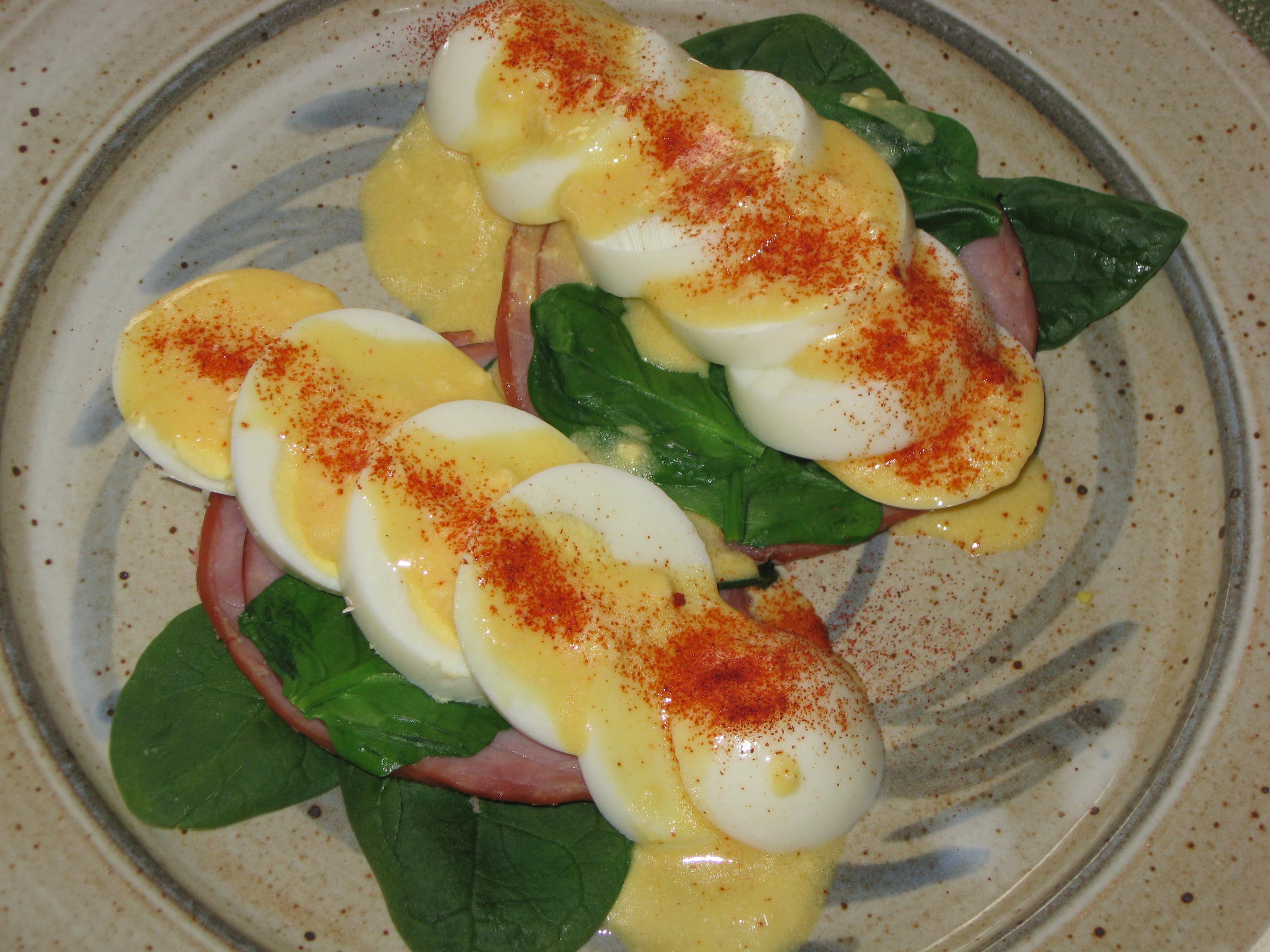 Hard Cooked Eggs Florentine   Recipe Idea Shop