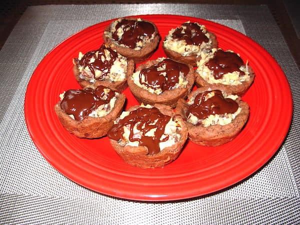 Chocolate Coconut Pecan Tassies
