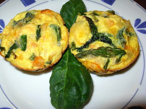 South Beach Florentine Egg Cups. Quick grab-n-go breakfast.