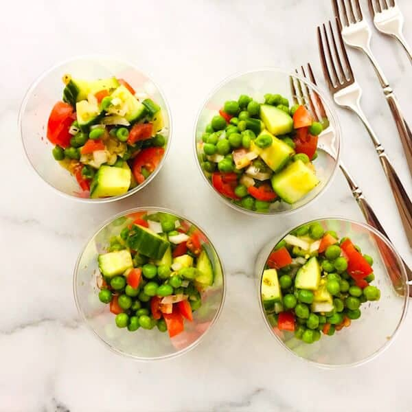 Pea and Cucumber Salad, party food!