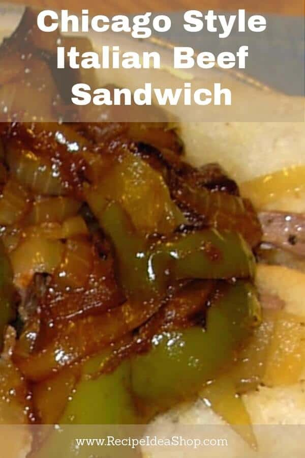 Chicago Style Italian Beef Sandwich Slow Cooker Recipe—the closest you can get to a real Chicago Italian Beef Sandwich! #chicagostyleitalianbeef; #slowcooker; #recipe; #Italianbeef; #Italianbeefsandwichrecipe;#recipeideashop