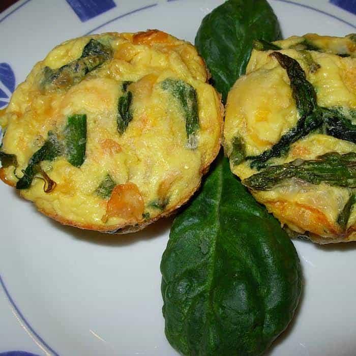 South Beach Eggs Florentine, spicy spinach eggs.