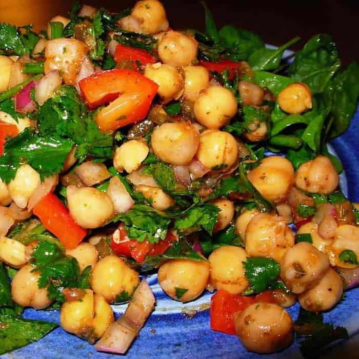 Chickpea Salad: filled with loads of protein and good-for-you ingredients.