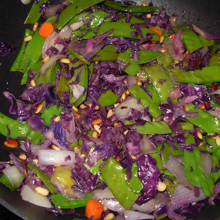 Colorful Veggies make an excellent stir fry.