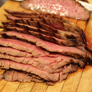 Our family's favorite steak, Marinated Flank Steak.