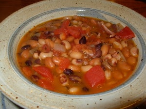 Three bean soup picture