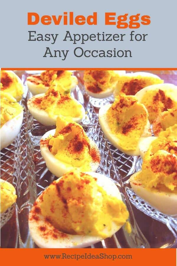 Easy peasy appetizer. These Deviled Eggs will satisfy even the most picky eater. #deviled-eggs, #easy-deviled-eggs, #easy-appetizer, #recipeideashop