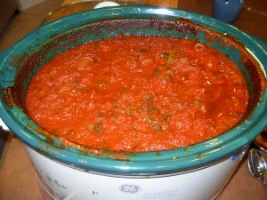 The Best Slow Cooker (or any!) Red Sauce Pasta Sauce for pasta, meatball sandwiches, whatever...a little sloppy, but it tastes SO good.