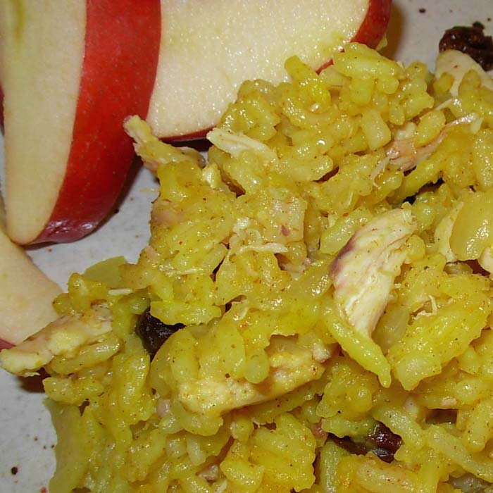 Turmeric and Annatto Oil give this Yellow Rice a nice yellow color.