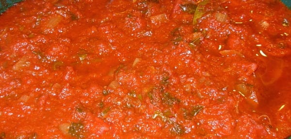 Try this Slow Cooker Red Sauce Pasta Sauce. It's fabulous (because...wine!) and easy.