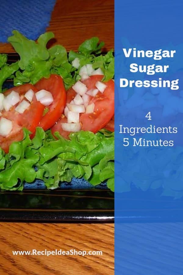 Vinegar Dressing for Bitter Lettuce #vinegardressing #vinegarsugardressing #saladdressing #glutenfree #vegan #vegetarian #recipes #recipeideashop