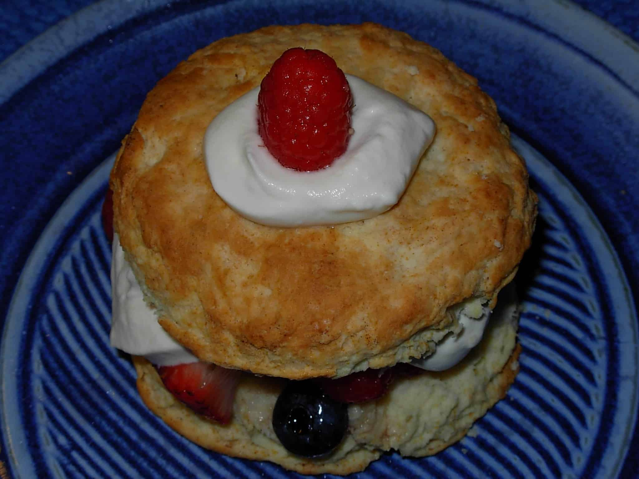 Berries Romanoff with Shortcake