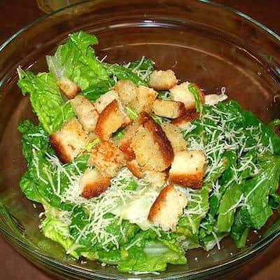 Step 5: Dress the salad.