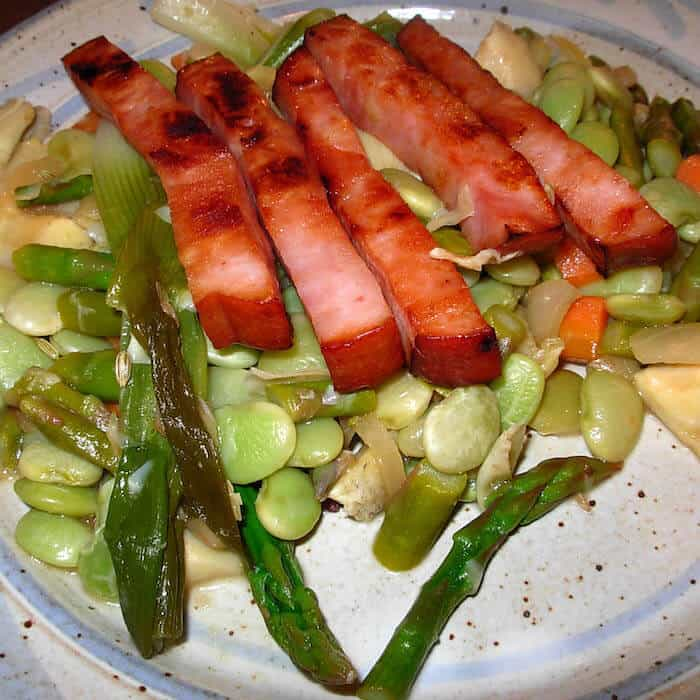 French Mixed Vegetables with Ham.