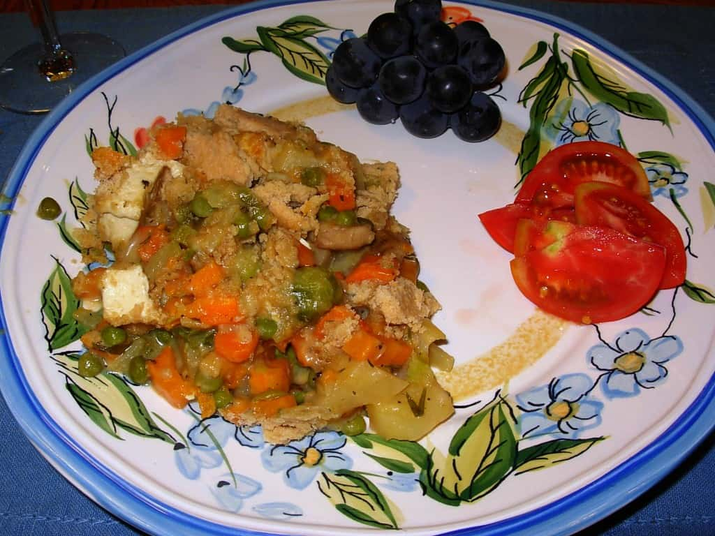 Savory Vegetarian Potpie with Tofu. Yum!