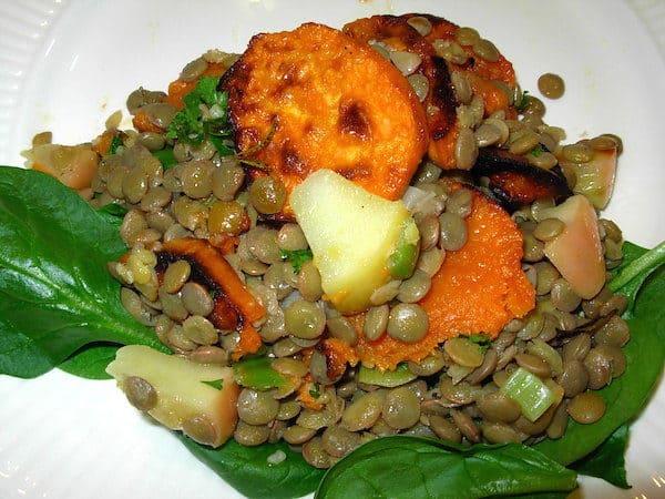 Lentil and Sweet Potato Salad. Fabulous combination.