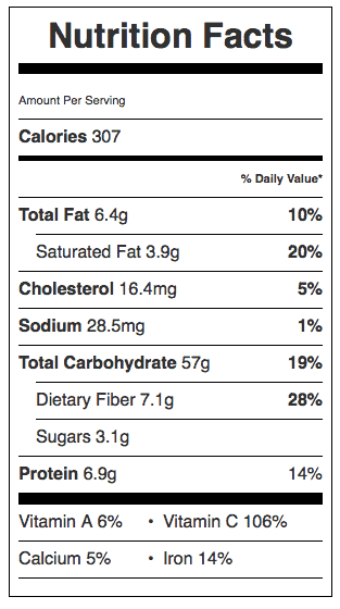 Mashed Potatoes Nutrition Label. Each serving is about 3/4 cup.