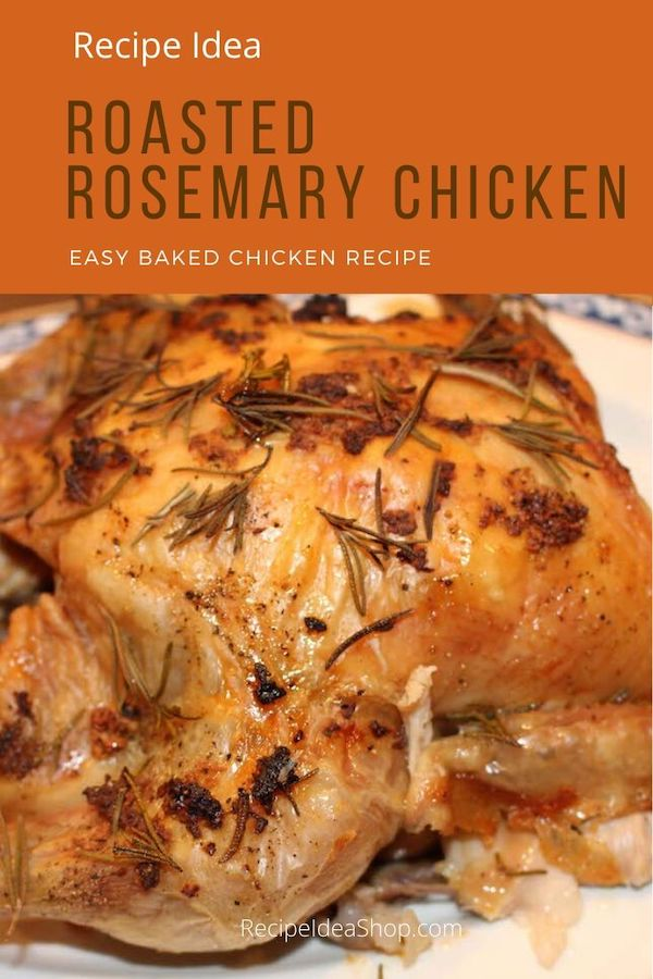 Roasted Rosemary Chicken is so flavorful. Easy beginner recipe. #roastedrosemarychicken #rosemarychicken #chickenrecipes #bakedchicken #easyrecipes #icancook #recipe-repertoire #yougotthis #cookathome #comfortfood #glutenfree #recipes #recipeideashop