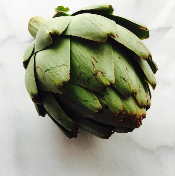 Fresh Artichoke before cooking it.