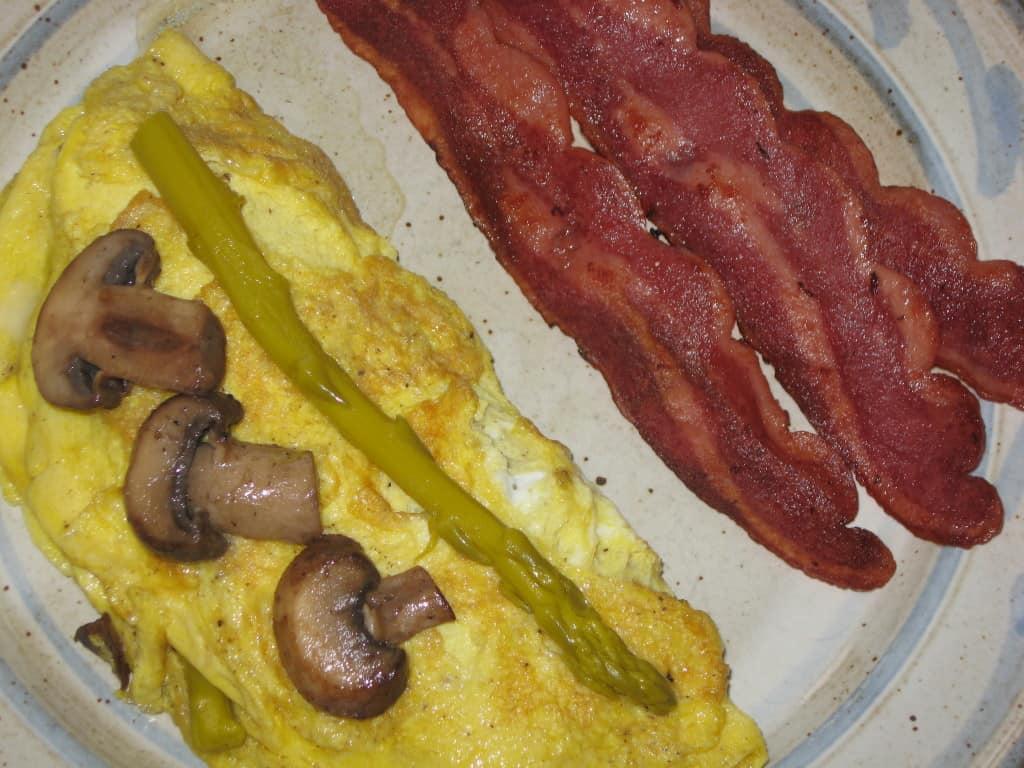 Asparagus and Mushroom Omelet