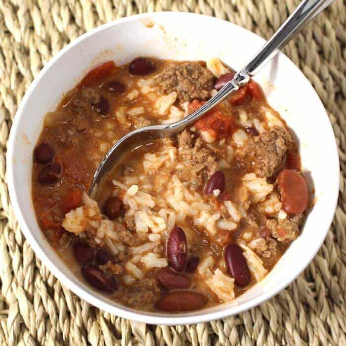 Coconut Chili. Coconut Basmati Rice added to Traditional Chili totally changes the flavor. It's SO good.