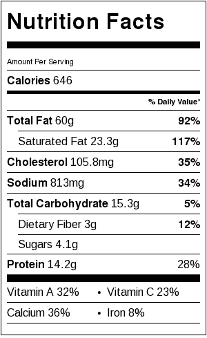Grilled Portabella Reuben Sandwich (with Easy Russian Dressing) Nutrition Label. Each serving is one sandwich.