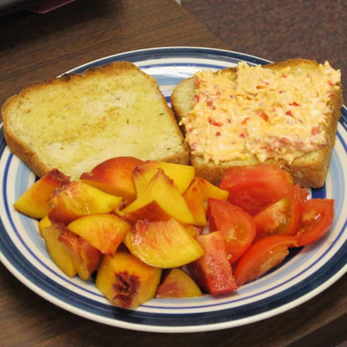 Pimento Cheese Spread makes a tasty sandwich. Or serve it on crackers as an appetizer.