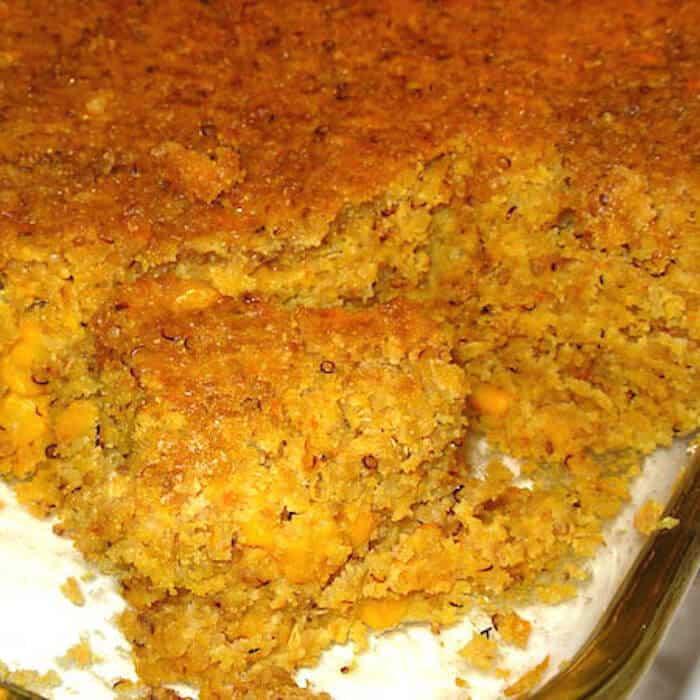 Quinoa Cornbread is so tasty. Corn and Quinoa Cornbread has tons of protein.