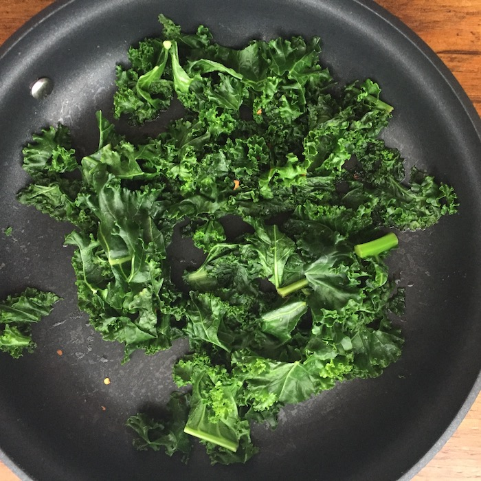 Wilted Kale, a simple way to eat your greens.