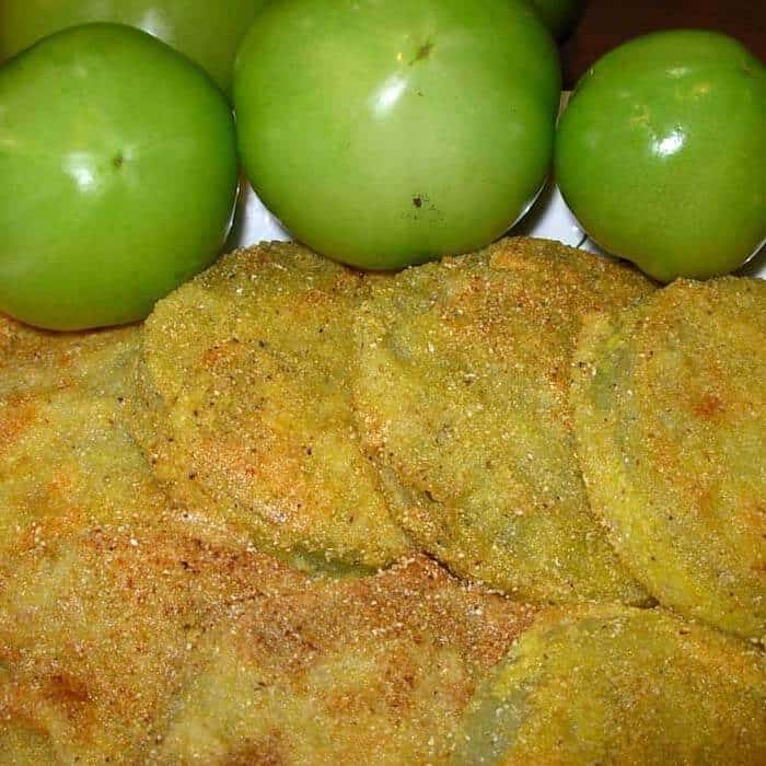Fried Green Tomatoes. Crisp, tangy, amazing.