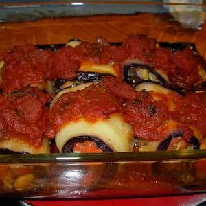 Minty Eggplant Rollups