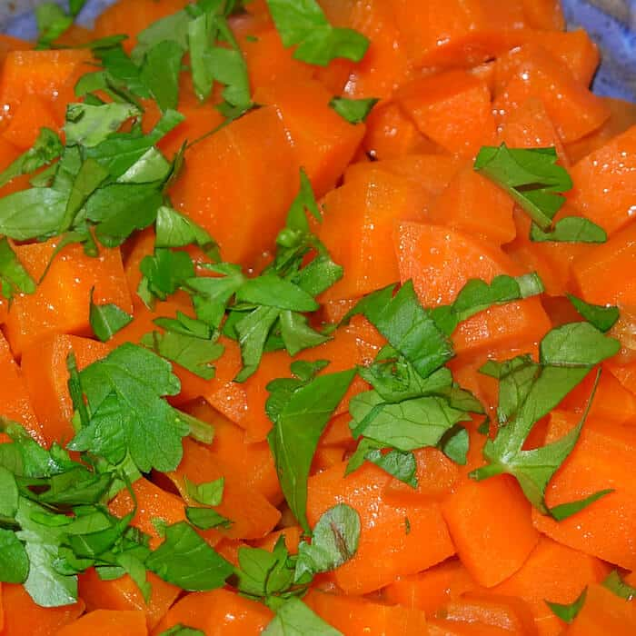 Mary Esposito's amazing Carrots in Vermouth. OMG!