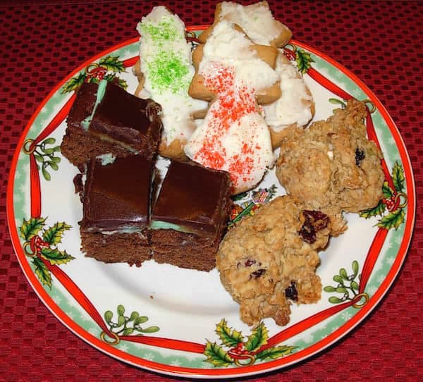 "Gluten Free 3 Layer Mint Brownies, <a href=""http://recipeideashop.com/sadies-brown-sugar-sugar-cookies/"" target=""_blank"">Sadie Carter's Sugar Cookies</a> and <a href=""http://recipeideashop.com/oatmeal-craisin-pecan-cookies/"" target=""_blank"">Oatmeal Cookies</a>"