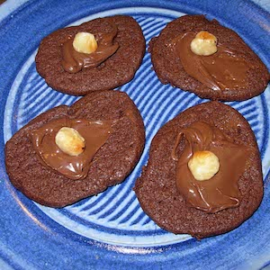 Nutella Cookies, frosted